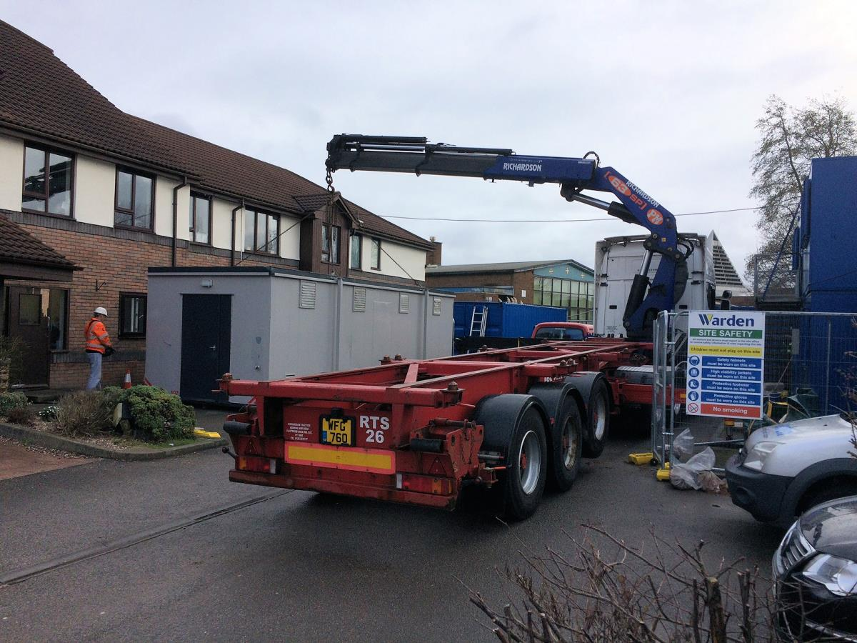 One of our all-in-one Multi units being dropped off at a rest home during refurbishments.