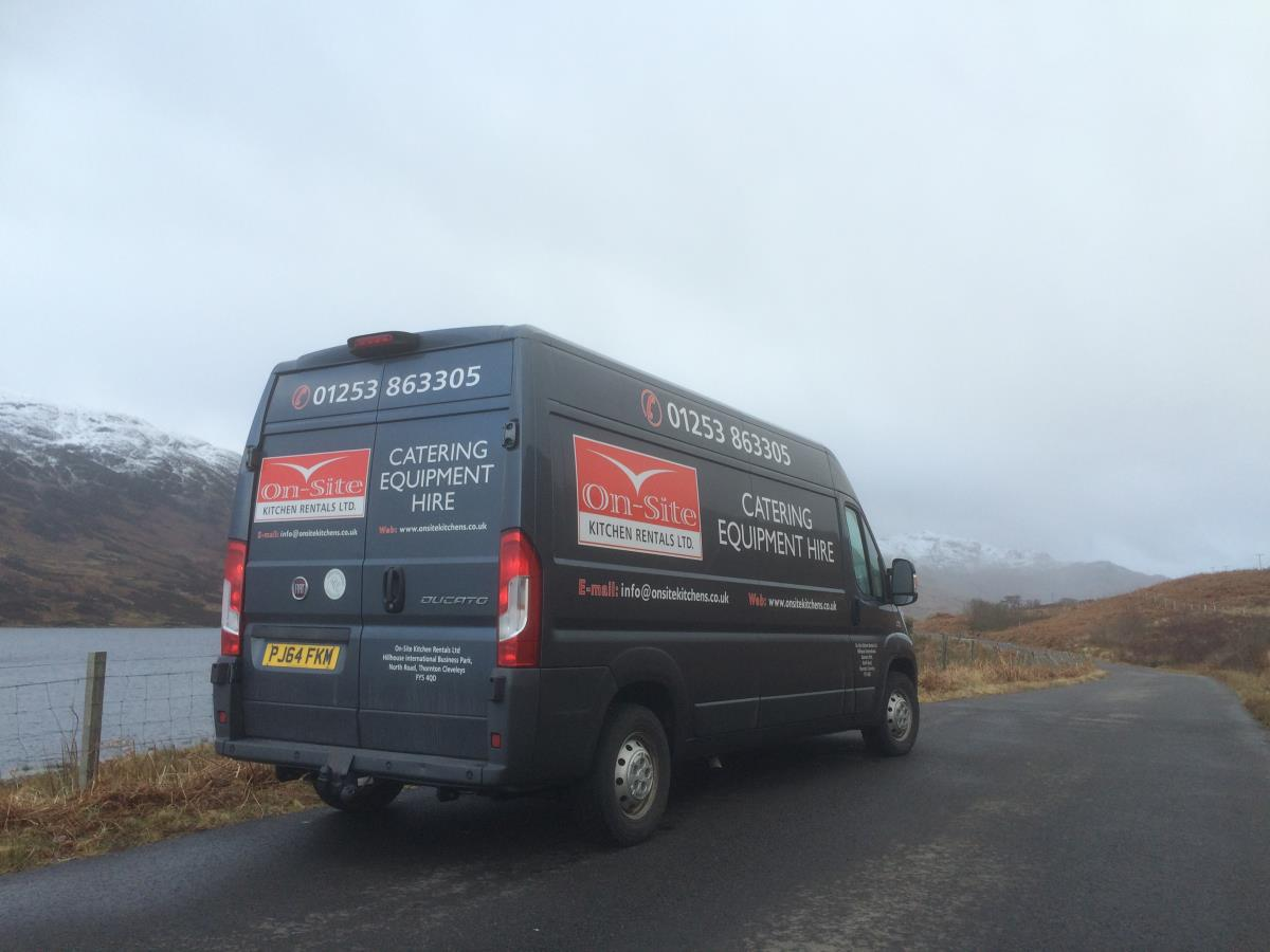 On-Site have the logistics capability and capacity to serve the Scottish Highlands and Islands.