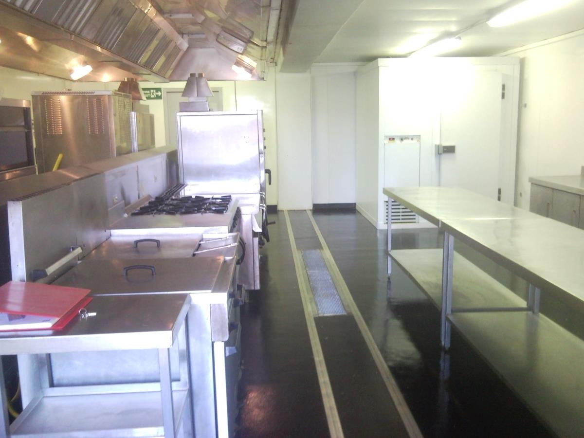Temporary kitchens for Total Petroleum, Aberdeen to feed 500 persons a day for three months.